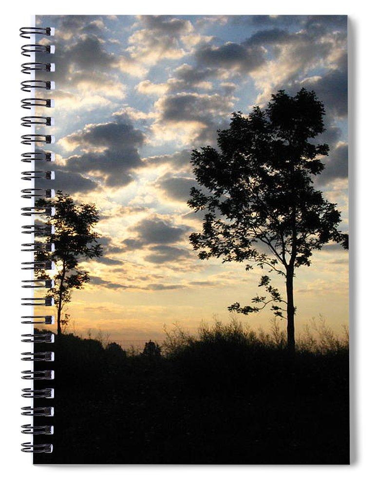 Landscape Spiral Notebook featuring the photograph Silhouette by Rhonda Barrett