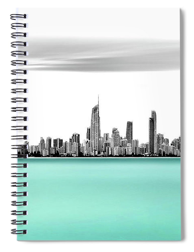 Gold Coast Spiral Notebook featuring the photograph Silver Linings by Az Jackson