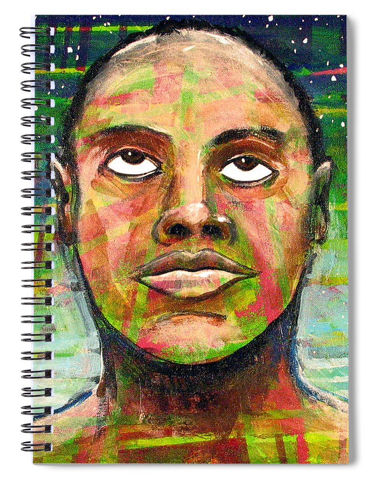 Spiral Notebook featuring the painting Simply Amazing by Rollin Kocsis