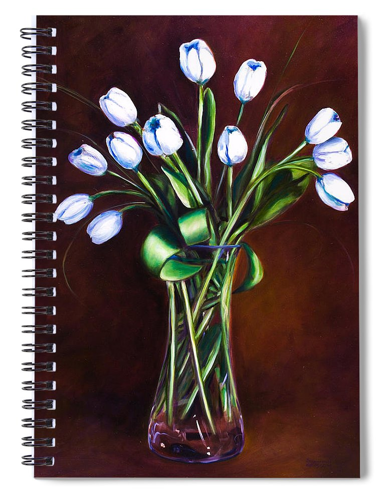 Shannon Grissom Spiral Notebook featuring the painting Simply Tulips by Shannon Grissom