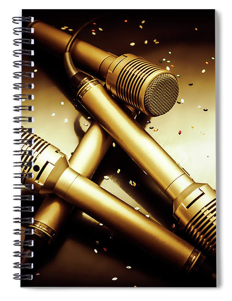 Concert Spiral Notebook featuring the photograph Sing Star Concert by Jorgo Photography - Wall Art Gallery