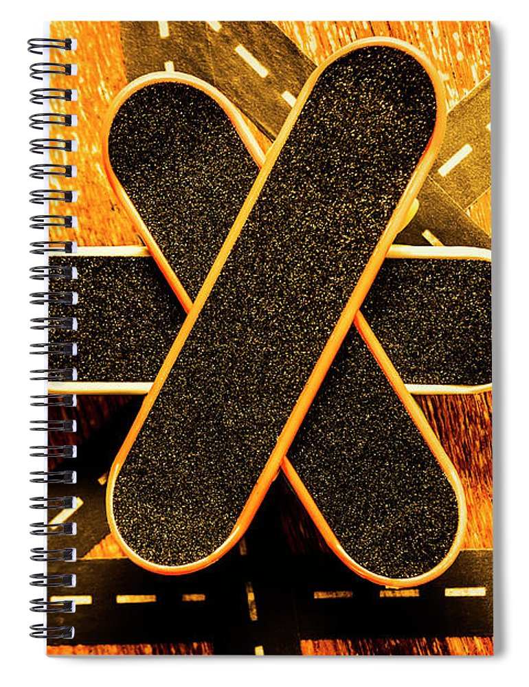 Board Spiral Notebook featuring the photograph Skateboarding Star by Jorgo Photography - Wall Art Gallery