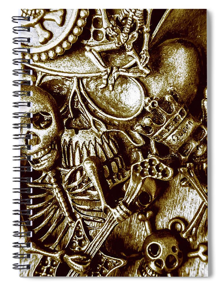 Gothic Spiral Notebook featuring the photograph Skull And Cross Bone Treasure by Jorgo Photography - Wall Art Gallery