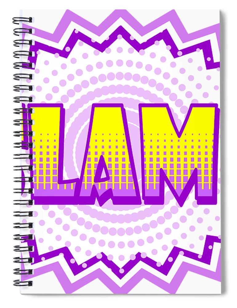 Slam Spiral Notebook featuring the digital art Slam Onomatopoeia Used In Comic Culture by Daniel Ghioldi  sc 1 st  Fine Art America & Slam Onomatopoeia Used In Comic Culture Spiral Notebook for Sale by ...