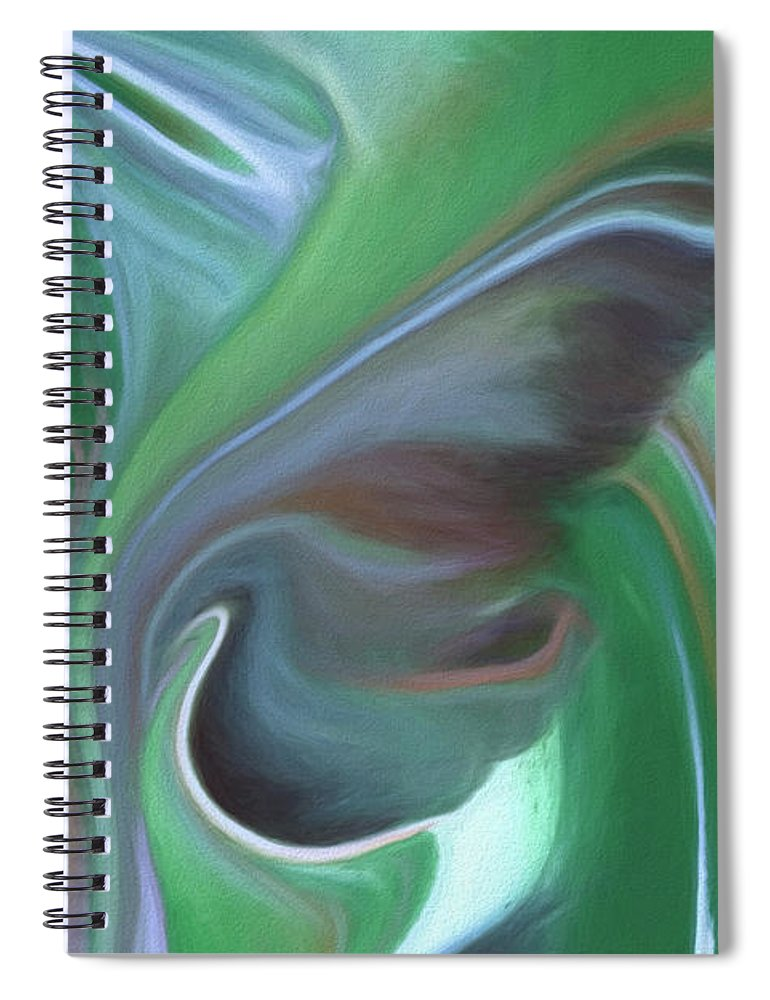 Abstract Spiral Notebook featuring the painting Sleep Softly by Patti Schulze