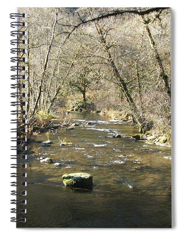 River Spiral Notebook featuring the photograph Sleepy Creek by Shari Chavira