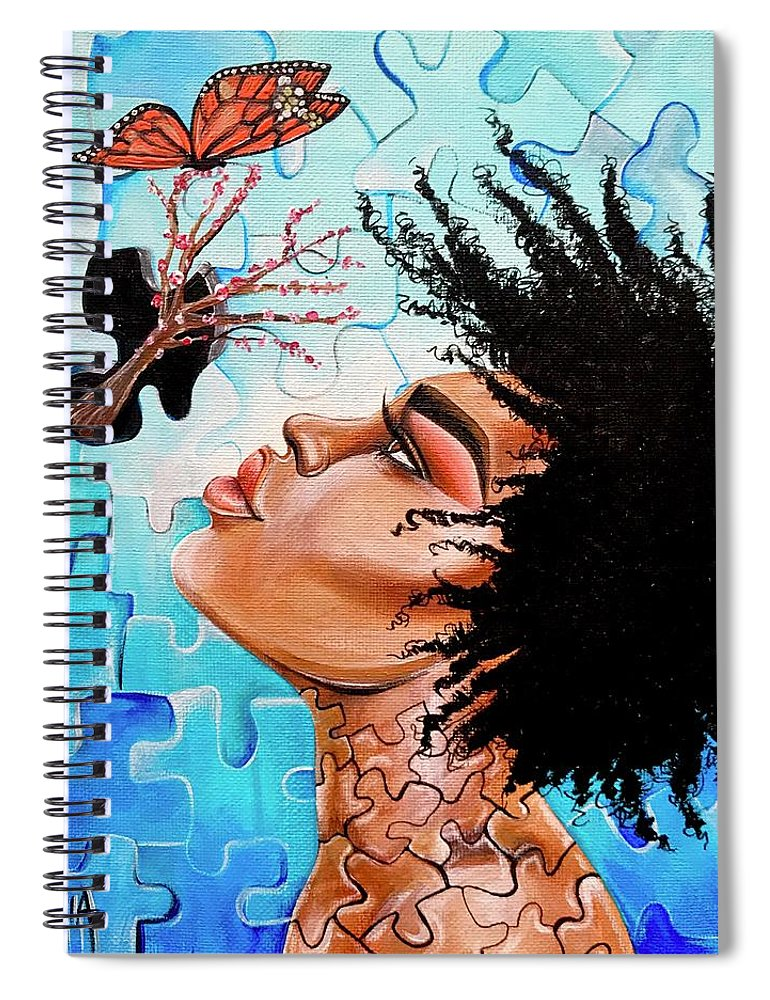 Butterfly Spiral Notebook featuring the photograph So Much more to me that you just cant See by Artist RiA