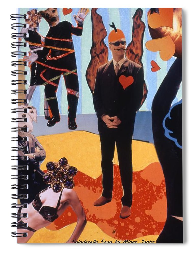 Hearts Spiral Notebook featuring the drawing Soap Scene #18 Burn in Heaven at the Club Relish by Minaz Jantz