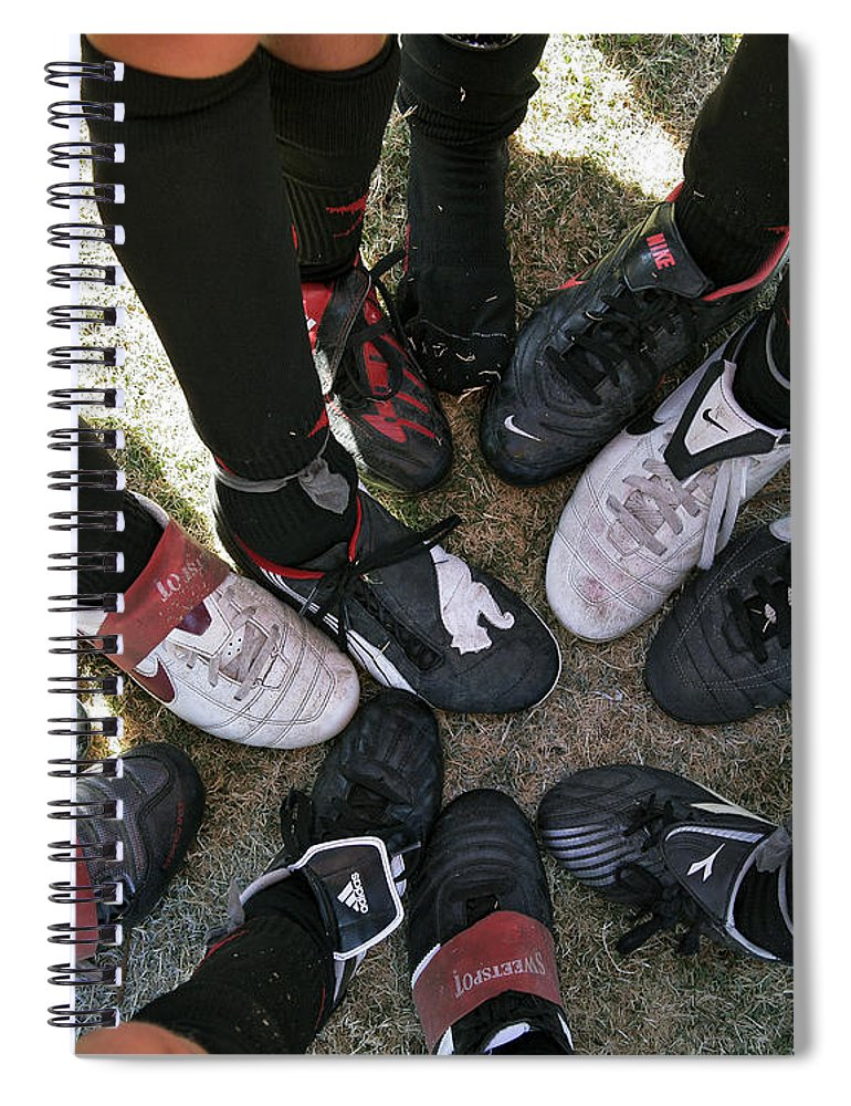 Soccer Spiral Notebook featuring the photograph Soccer Feet by Kelley King