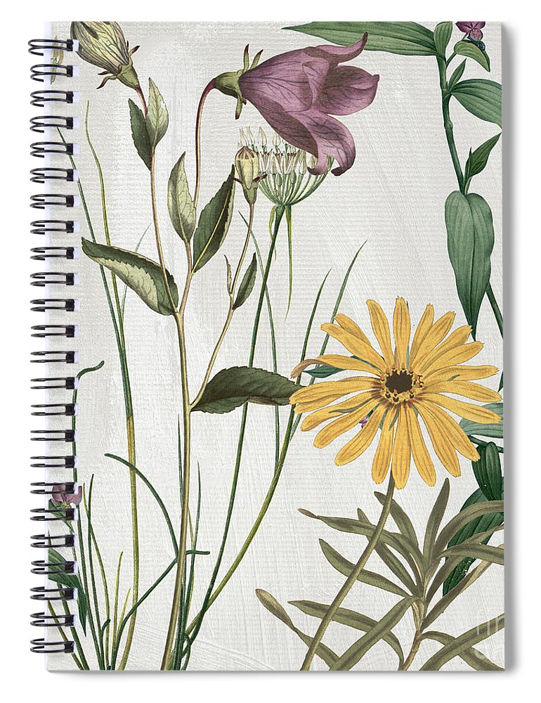 Purple Crocus Spiral Notebook featuring the painting Softly Crocus And Daisy by Mindy Sommers
