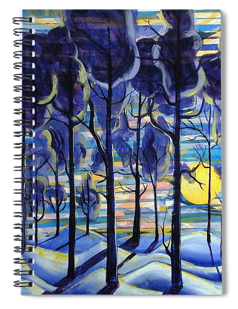 Landscape Spiral Notebook featuring the painting Solitude by Rollin Kocsis