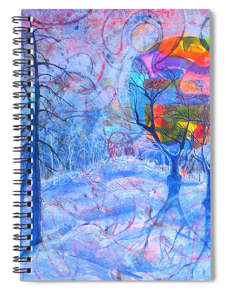 Winter Spiral Notebook featuring the painting Solstice by Rollin Kocsis