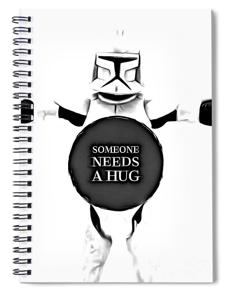 Star Wars Spiral Notebook featuring the photograph Someone Needs A Hug by Edward Fielding