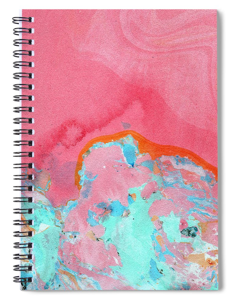 Abstract Spiral Notebook featuring the painting Somewhere New- Abstract Art by Linda Woods by Linda Woods