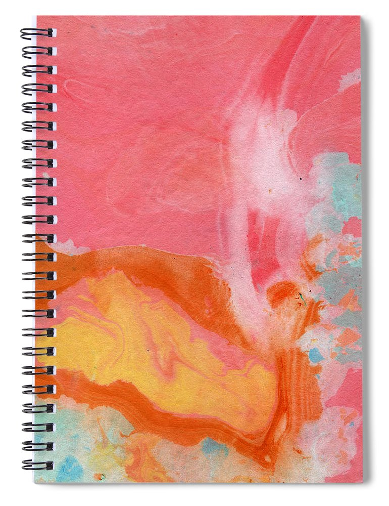 Abstract Spiral Notebook featuring the painting Somewhere New 2- Abstract Art by Linda Woods by Linda Woods
