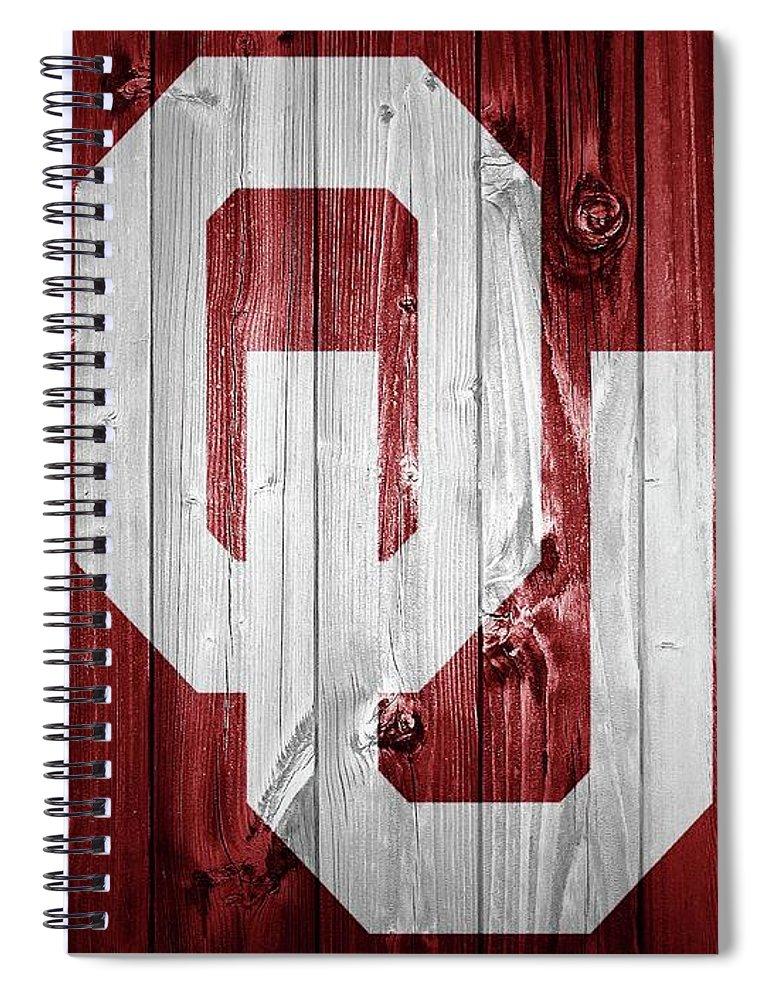 Sooners Barn Door Spiral Notebook featuring the photograph Sooners Barn Door by Dan Sproul