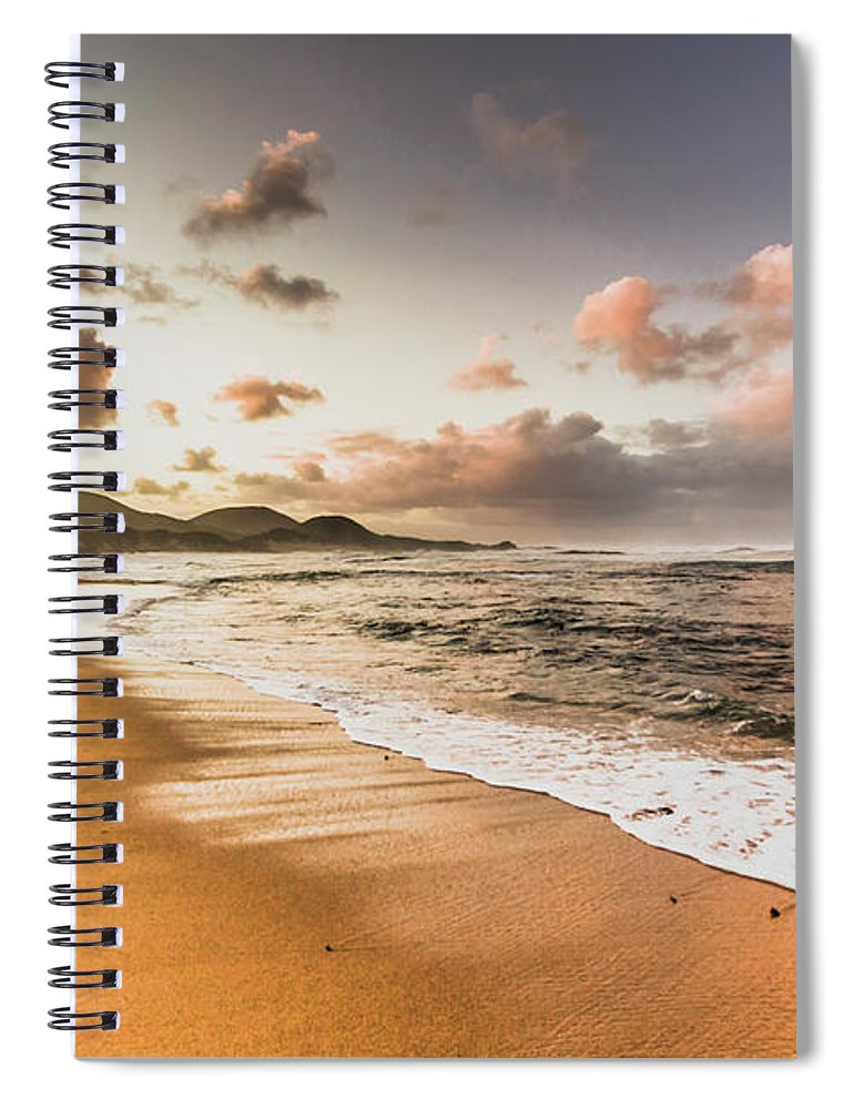 Beach Spiral Notebook featuring the photograph Soothing Seaside Scene by Jorgo Photography - Wall Art Gallery
