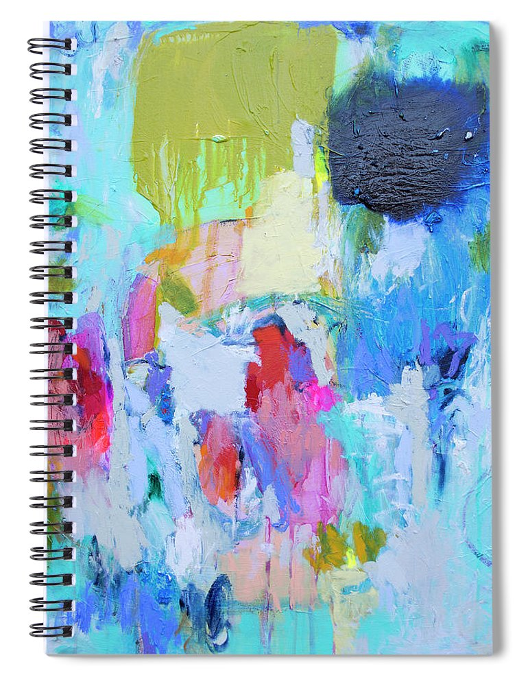 Abstract Spiral Notebook featuring the painting Soul Feeling by Claire Desjardins