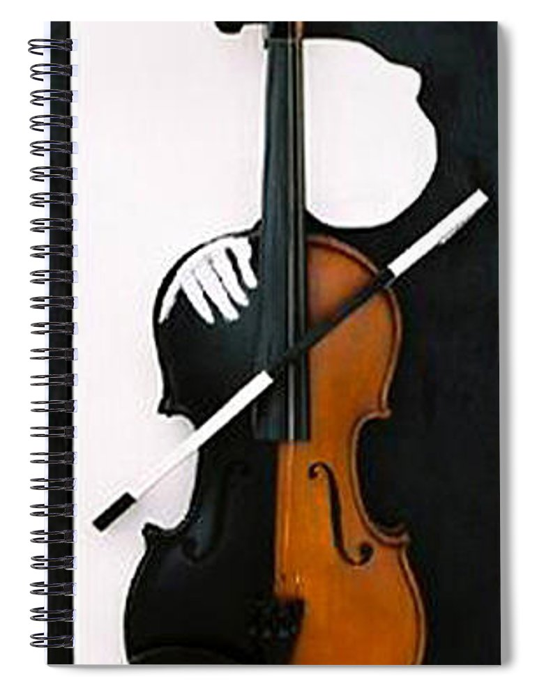 Violin Spiral Notebook featuring the sculpture Soul Of Music by Steve Karol