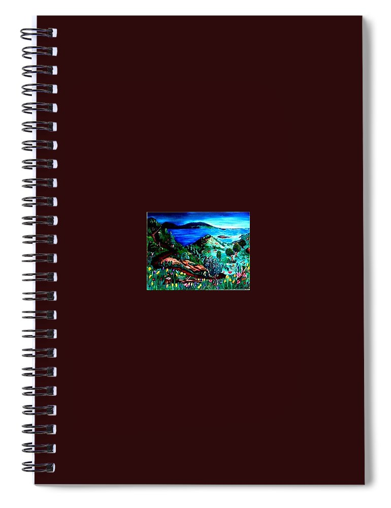 Landscape Spiral Notebook featuring the painting Special Land by Andrew Johnson