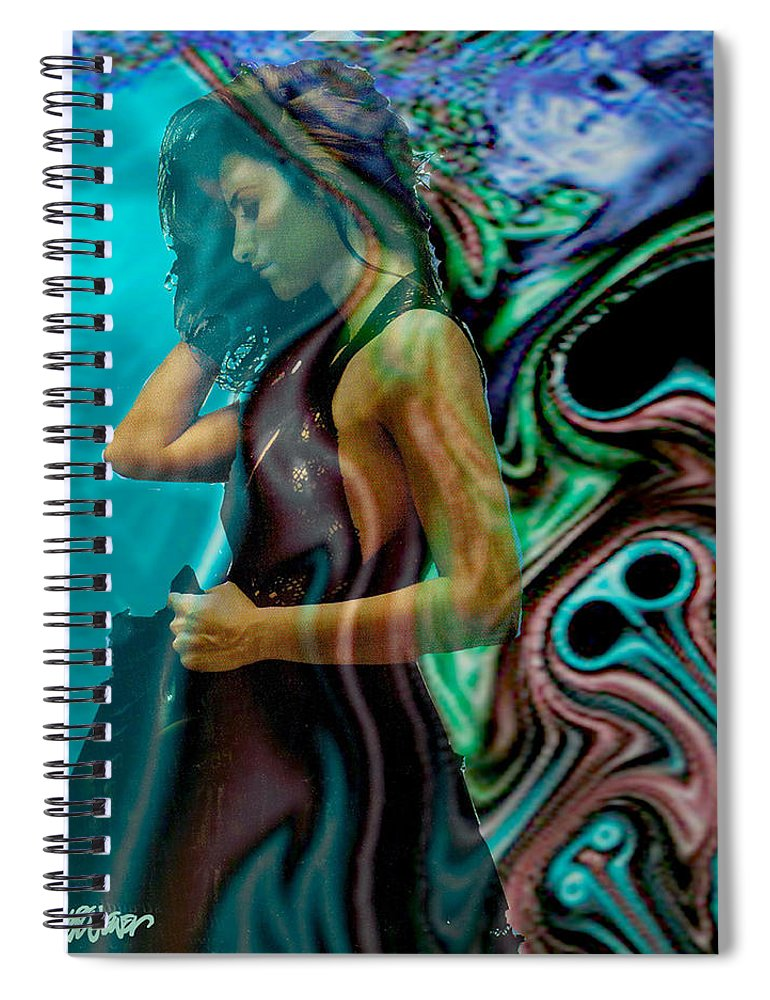 Beautiful Women Spiral Notebook featuring the digital art Spell of a Woman by Seth Weaver
