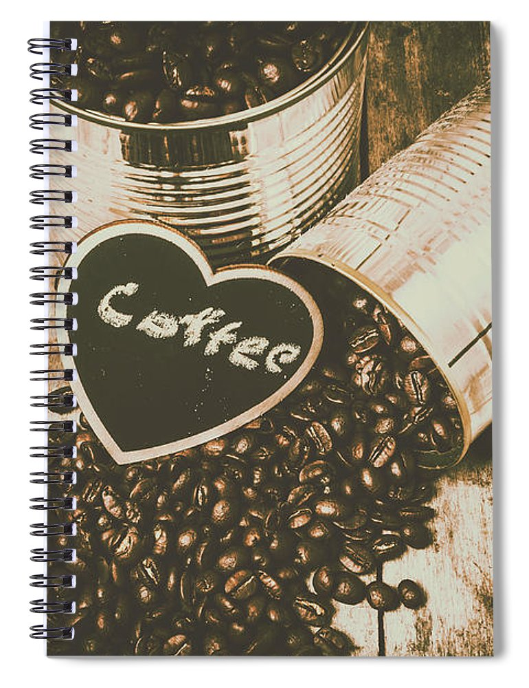 Cafe Spiral Notebook featuring the photograph Spilling The Beans by Jorgo Photography - Wall Art Gallery