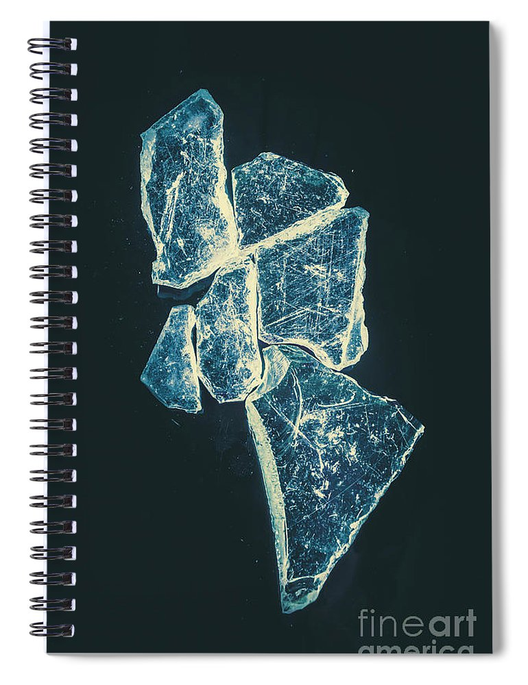 Glass Spiral Notebook featuring the photograph Splinters And Fractures by Jorgo Photography - Wall Art Gallery