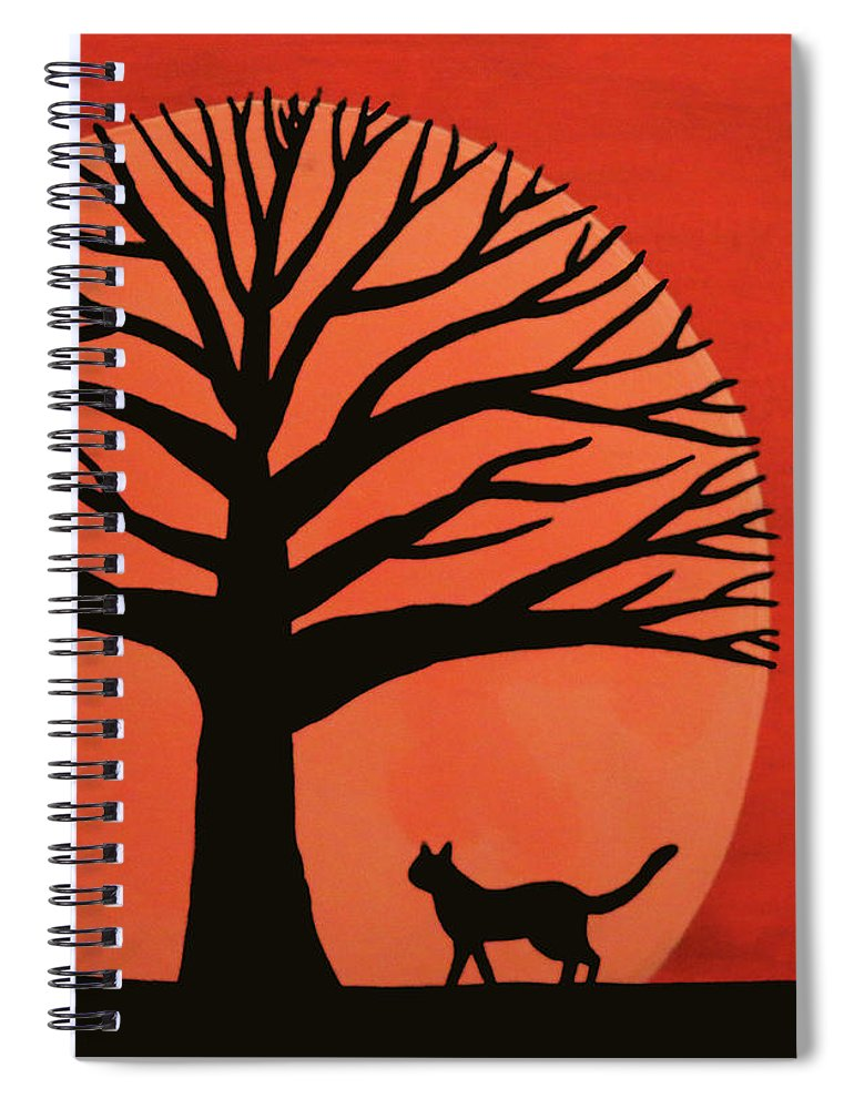 Spooky Cat Tree Spiral Notebook