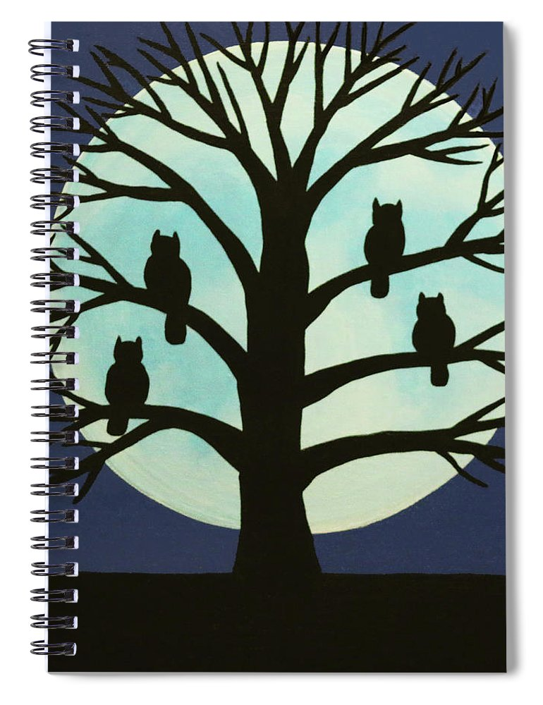 Spooky Owl Tree Spiral Notebook