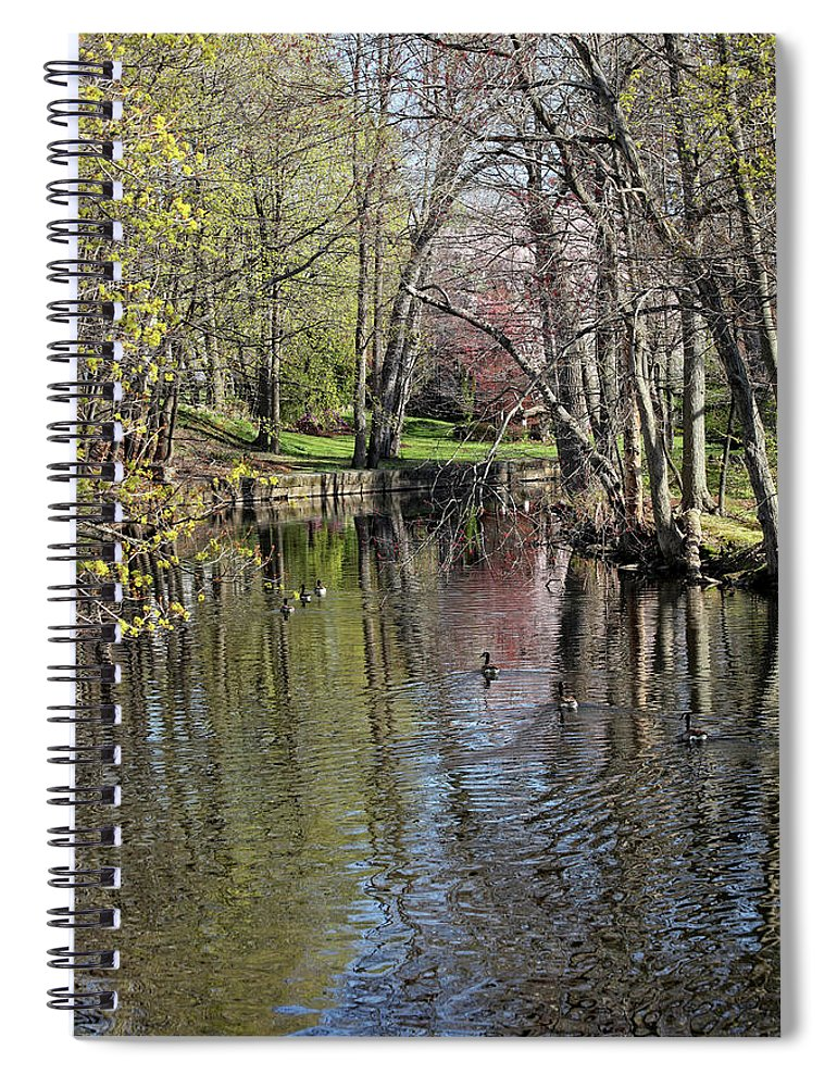 Spring Arrives Spiral Notebook featuring the photograph Spring Arrives by Karol Livote