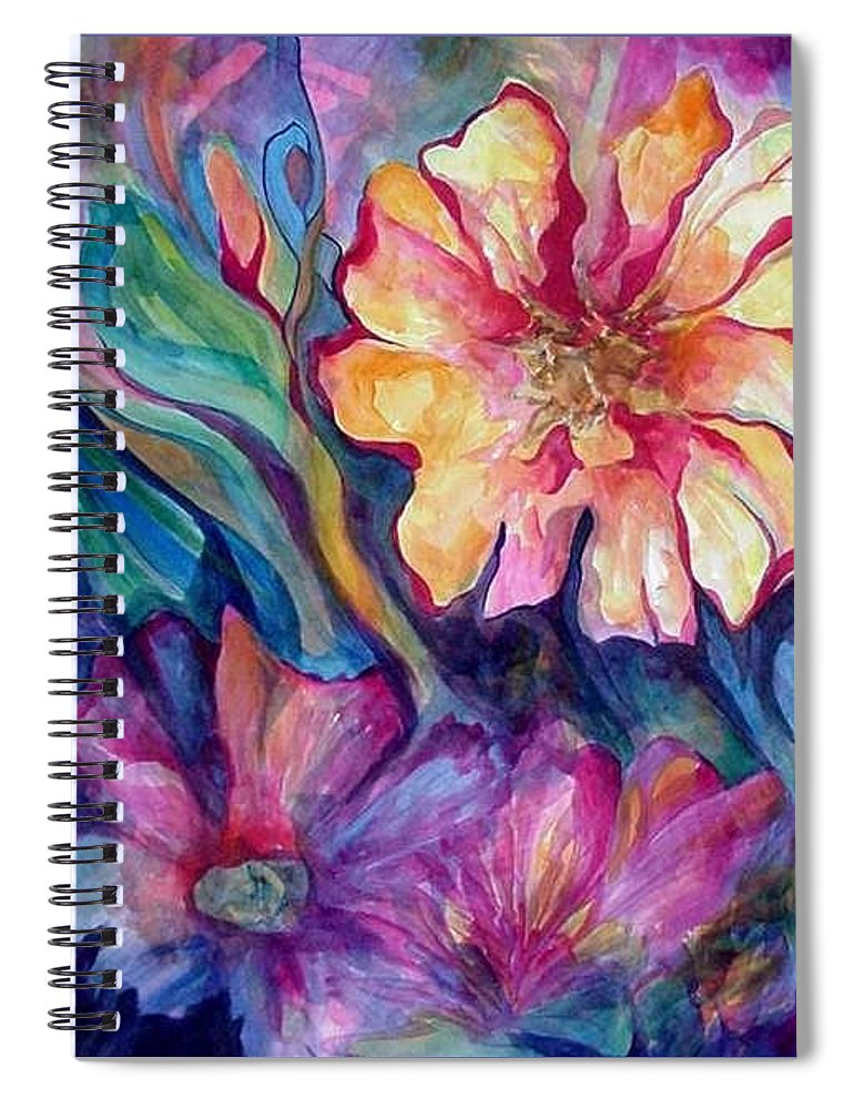 Spring Spiral Notebook featuring the painting Spring In My heart by Carolyn LeGrand