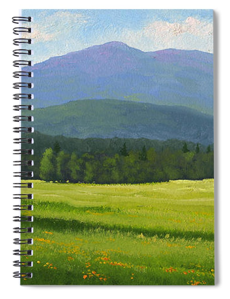 Landscape Spiral Notebook featuring the painting Spring Vista by Frank Wilson