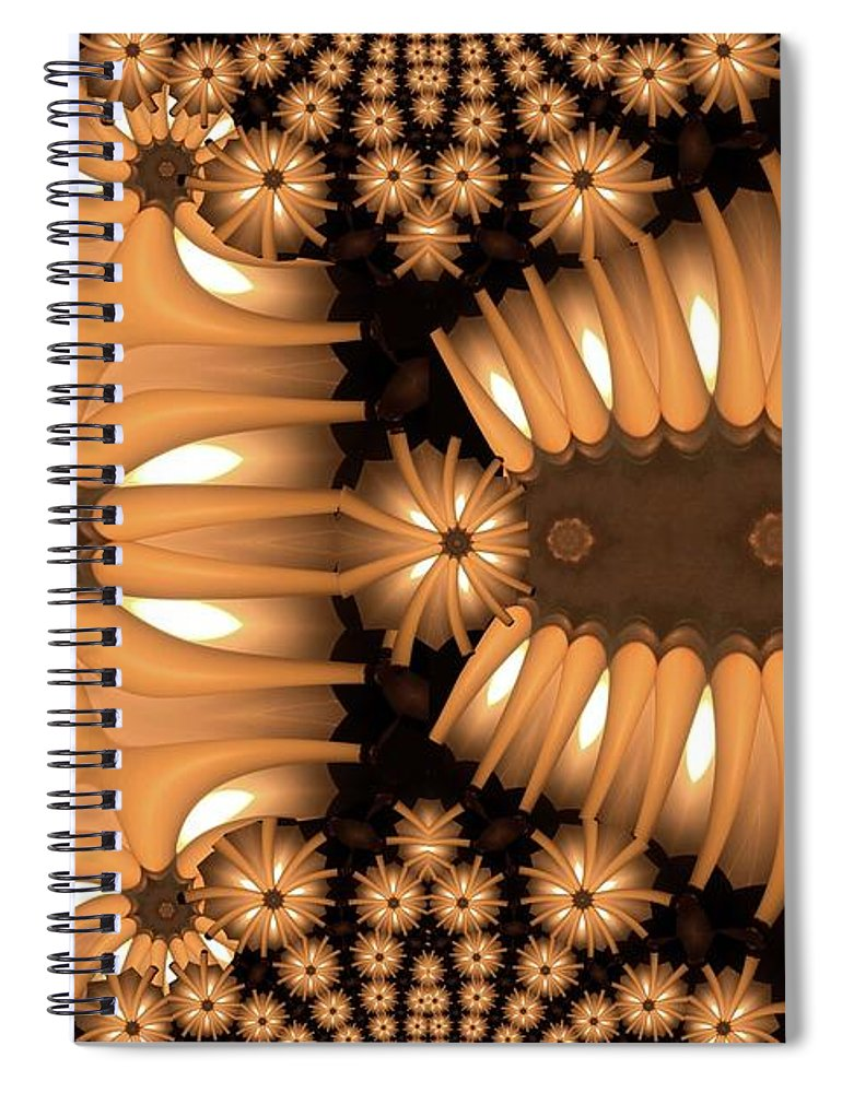 Collage Spiral Notebook featuring the digital art Spur Dog by Ron Bissett