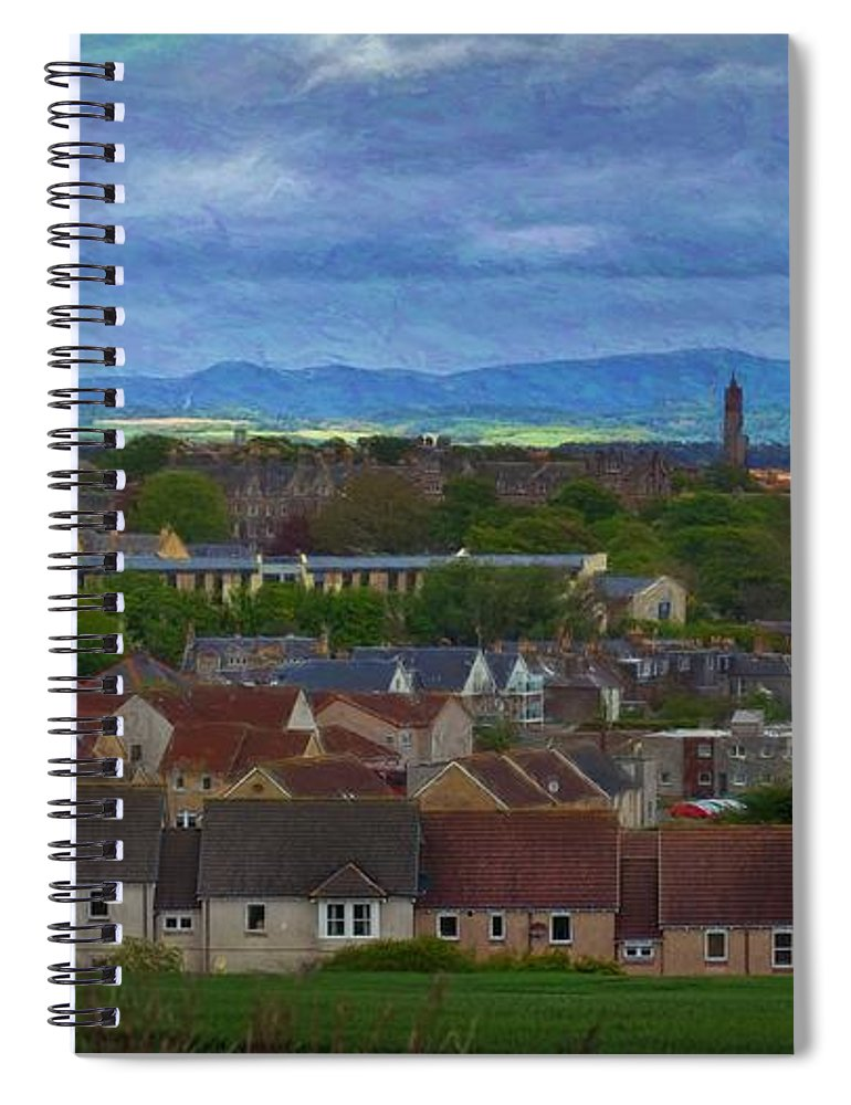 Scotland Spiral Notebook featuring the photograph St. Andrews #1 by David Melville