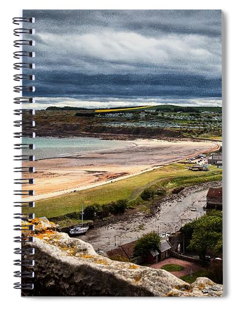 Scotland Spiral Notebook featuring the photograph St. Andrews #3 by David Melville