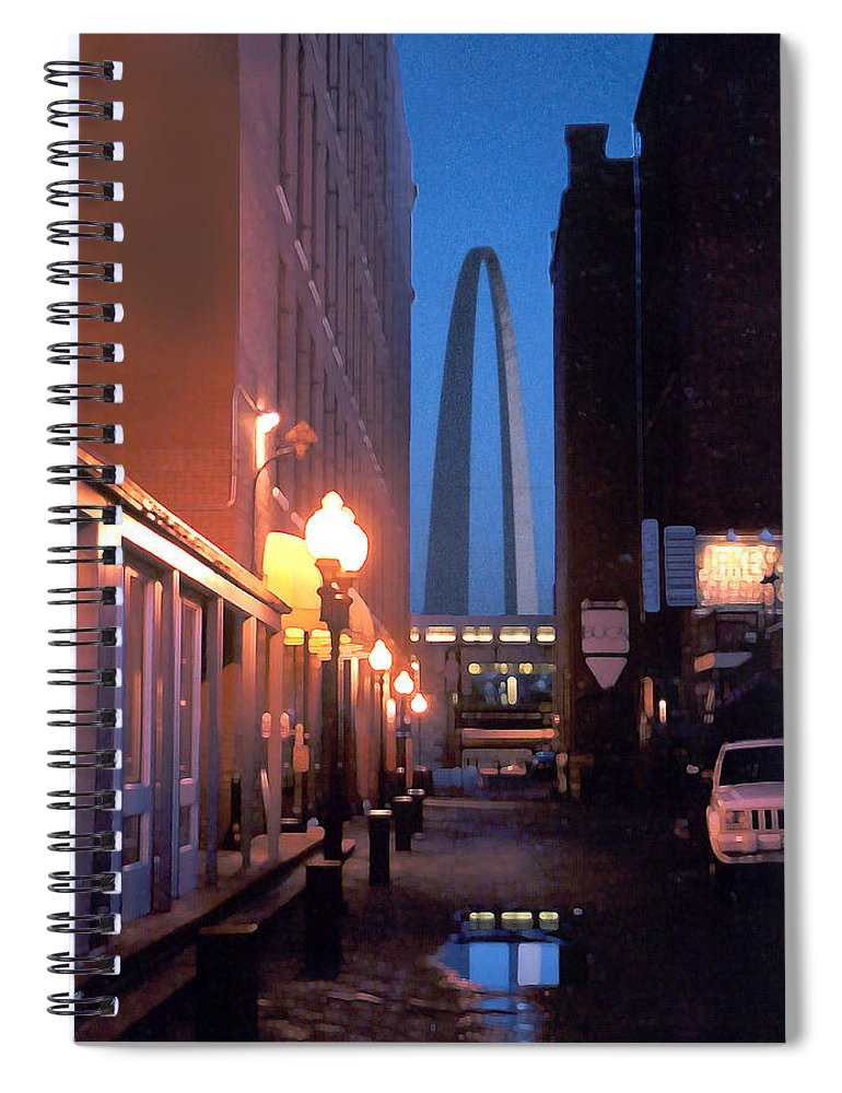 St. Louis Spiral Notebook featuring the photograph St. Louis Arch by Steve Karol