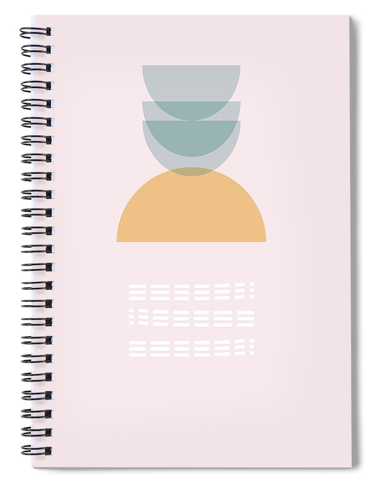 Modern Spiral Notebook featuring the mixed media Stacked Flare- Art by Linda Woods by Linda Woods