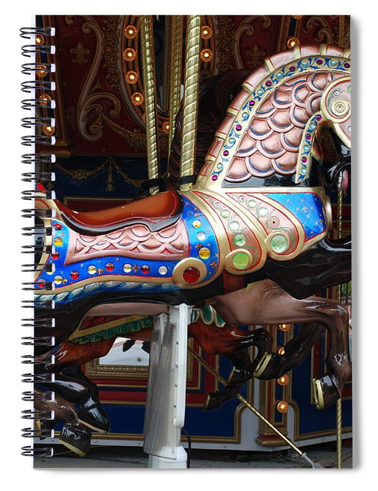 Pop Art Spiral Notebook featuring the photograph Stallion by Rob Hans
