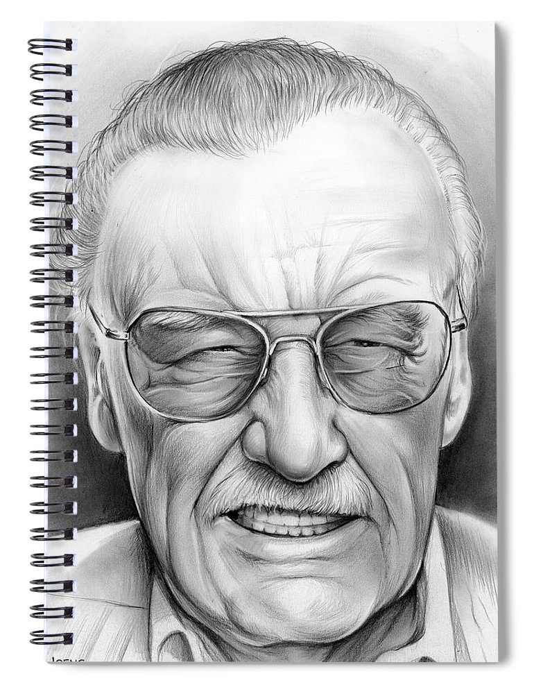 e8387e05 Stan Lee Spiral Notebook featuring the drawing Stan Lee by Greg Joens