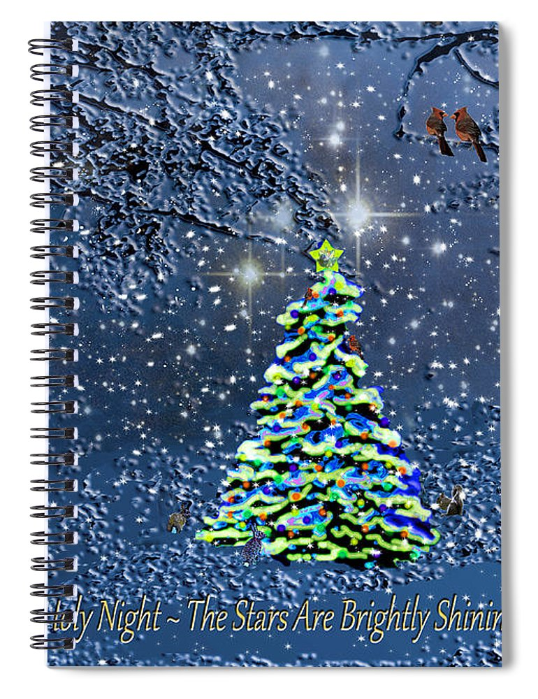 Starry Night Forest Christmas Card Spiral Notebook for Sale by ...