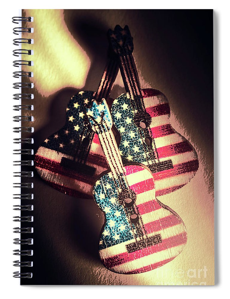 American Spiral Notebook featuring the photograph State Of Rock And Rock by Jorgo Photography - Wall Art Gallery