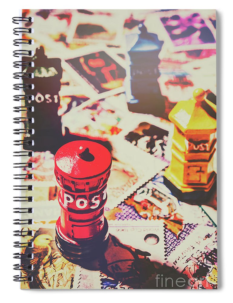 Mailbox Spiral Notebook featuring the photograph Stilling The Mail Room by Jorgo Photography - Wall Art Gallery