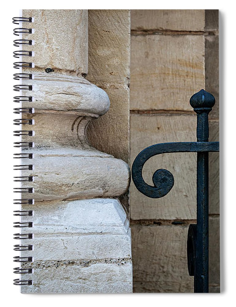 Column Spiral Notebook featuring the photograph Stone And Metal by Elena Elisseeva