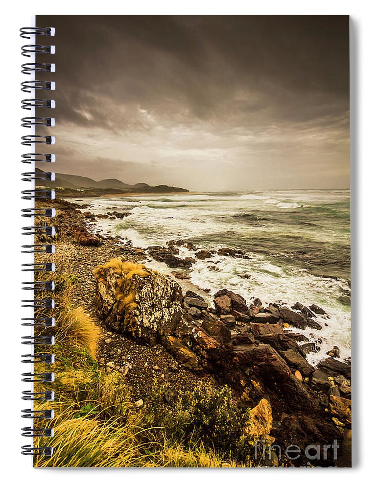 Overcast Spiral Notebook featuring the photograph Storm Season by Jorgo Photography - Wall Art Gallery