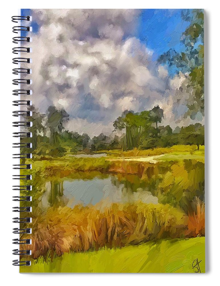 Florida Spiral Notebook featuring the digital art Storm to the West by Scott Waters