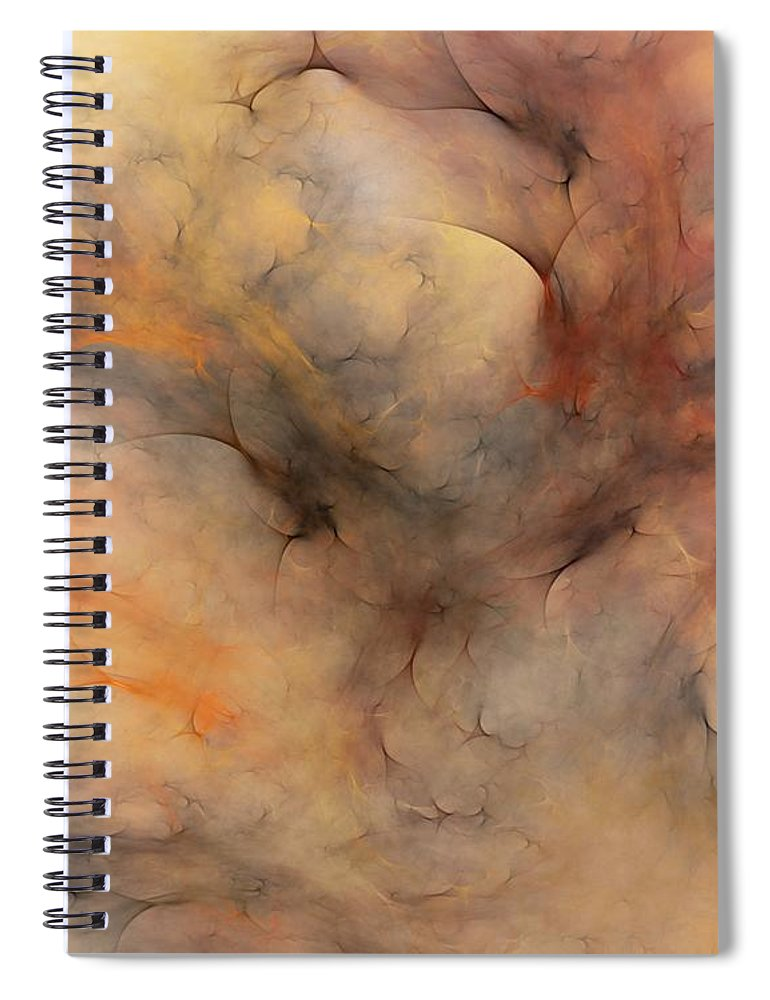 Abstract Spiral Notebook featuring the digital art Stormy by David Lane