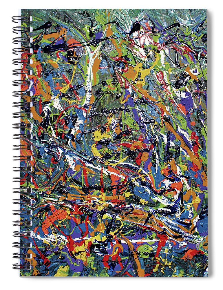 Orange Spiral Notebook featuring the painting Stormza Brewin' by Pam Roth O'Mara
