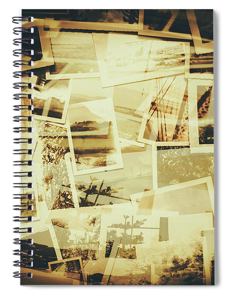 Background Spiral Notebook featuring the photograph Storyboard Of Past Memories by Jorgo Photography - Wall Art Gallery
