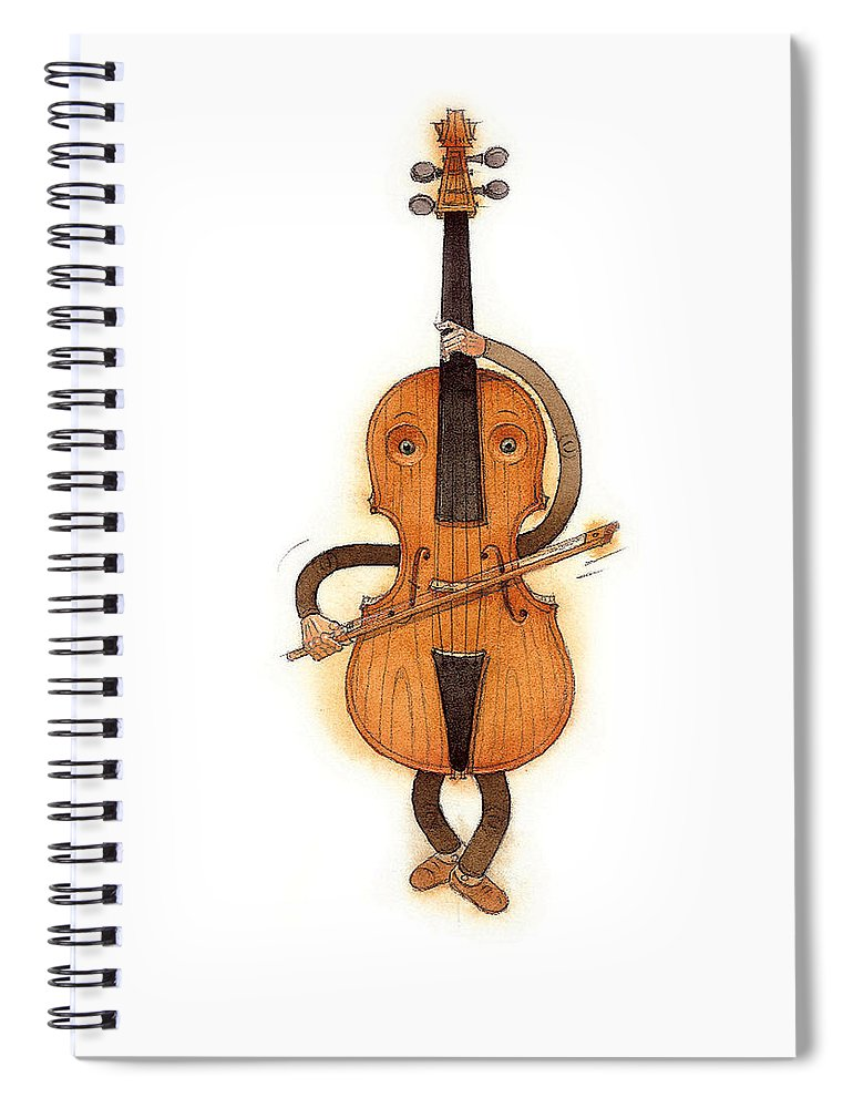 Violin Music Baroque Classical Spiral Notebook featuring the painting Stradivarius Violin by Kestutis Kasparavicius