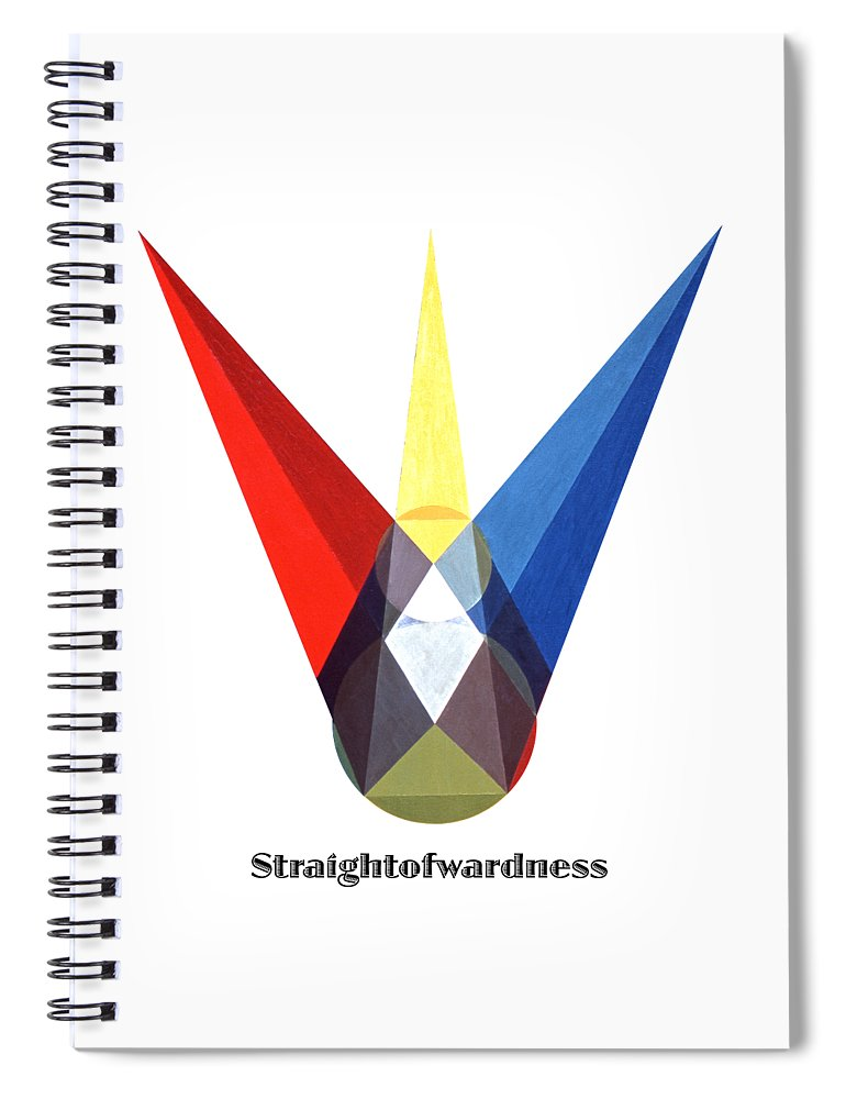 Painting Spiral Notebook featuring the painting Straightforwardness text by Michael Bellon